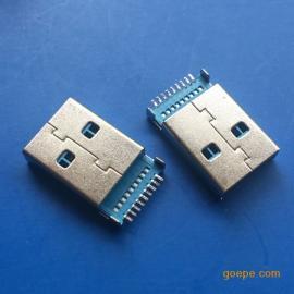 A公3.0沉板USB公�^沉板1.9�N片直�_SMT�N板�{�z
