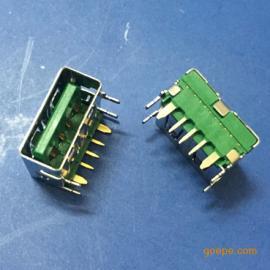 大电流USB 5A母座快充OPPO 5P/5针闪充四脚直边
