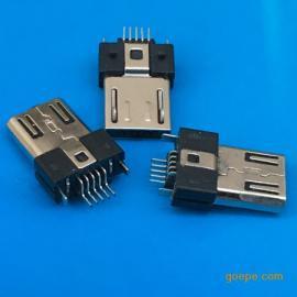 贴片/MICRO 5P公头SMT/贴板3.0超薄贴片式焊板