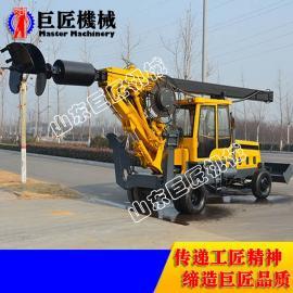 180度小型轮式旋挖钻机生产厂家 13米轮式螺旋打桩机