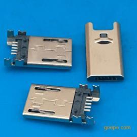 插板MICRO 5P公头/四脚dip+SMT或四脚贴片贴板