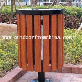 供应城市街道、商业广场、景区、公园木条垃圾桶环卫分类垃圾箱