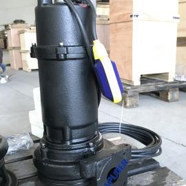现货供应0.75KW/1KW潜水排污双铰刀泵 带浮球液位计