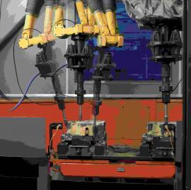 二手货架焊接机器人 喷涂机器人防护罩 直线滑轨焊接机器人