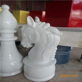 玻璃钢国际象棋雕塑 大型园林景观雕塑 卡通动漫雕塑 小区雕塑