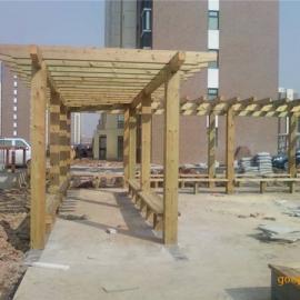 淮安防腐木厂家专业制作各类木屋 凉亭 花架葡萄架 古建长廊