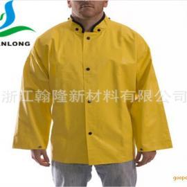 翰隆黄色柔软250D*250D欧标环保防水PVC夹网布 雨衣布 防油布