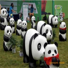 玻璃钢熊猫雕塑 仿真动物雕塑 橱窗展示雕塑 卡通动漫雕塑
