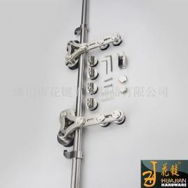 花键美观客厅门五金配件玻璃移门吊轮长期供应01A-C对玻璃