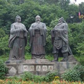 东莞原著铸铜雕塑厂供应各类铸铜雕塑 三国人物雕塑批发公园主题