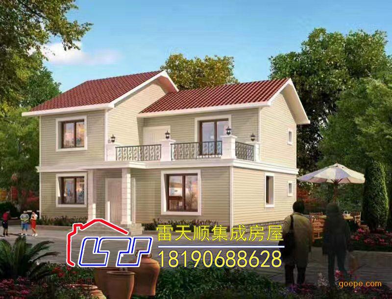 材质:新型建材 ;工艺:轻钢别墅 ;造型:欧式两层