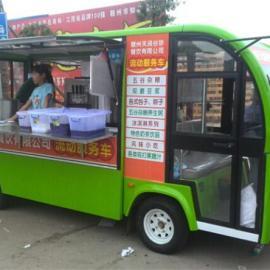 上海四轮电动售货车,流动餐车,电动送餐车