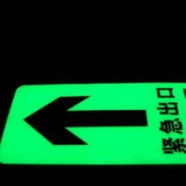 新力光电丨蓄光型疏散指示标志丨自发光楼层标识牌