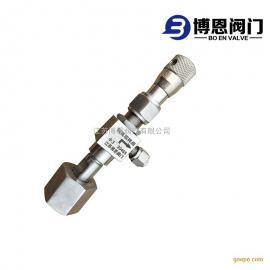 不锈钢钢瓶取样器 焊接角式微调阀