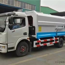 小型自装卸式垃圾车_东风多利卡挂桶式垃圾车厂家直销