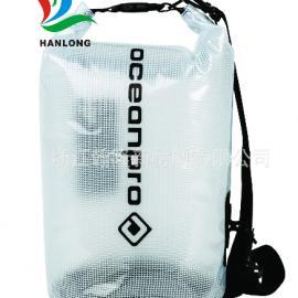 PVC箱包夹网布(手感好、耐磨、无折白、无气味)漂流包