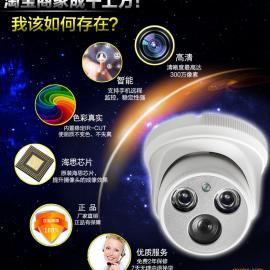贵州镇远监控摄像机 半球200万高清网络摄像机