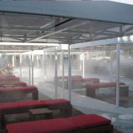 商业步行街户外降温设备,微雾化喷淋降温不湿衣服