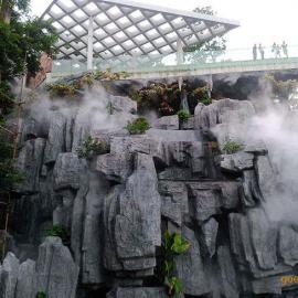 广州贝克喷雾假山喷雾造景