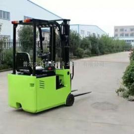 北京 经济轻型1吨三轮小型电瓶叉车 三支点平衡重式电动叉车