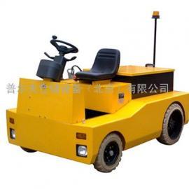 蓄电池机场行李牵引车平板拖车头牵引物流拉货电动牵引车飞机