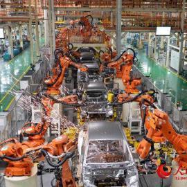 钢卷打包机 盘式机械手 焊接机器人工装夹具