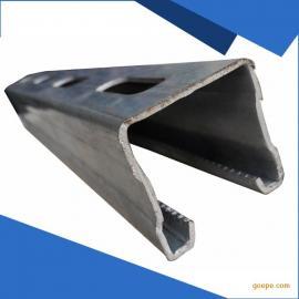 厂家直销镀锌冲孔C型钢 光伏支架轨道配件 太阳能光伏支架C型钢