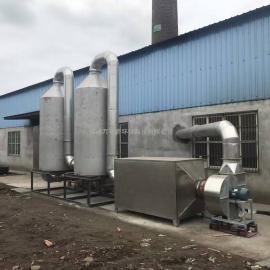 化工厂涂料车间恶臭气体处理 光解 喷淋 废气处理工艺