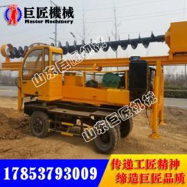 华夏巨匠直供6米轮式长螺旋打桩机 小型打桩机厂家