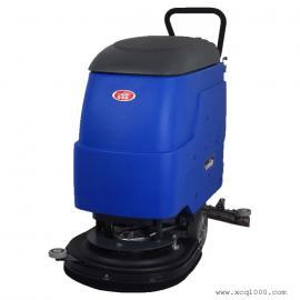 工厂仓库清洗地面泥尘用威德尔电瓶式电动洗地机BT-530