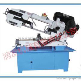 《BS-712N金属带锯床》夹钳可回转0-45°锯切