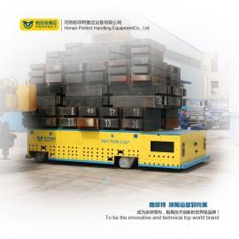 塑料制品运输车间轨道车5t4轮转向平板拖车电动搬运模具车