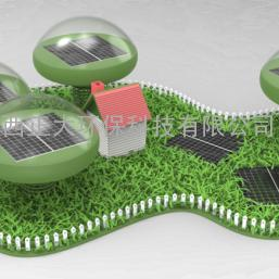 正大环保双曝气技术的景观型太阳能微生物缓释曝气机