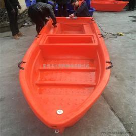 阜阳4米塑料渔船打捞船河道清理运输船双层牛筋材质