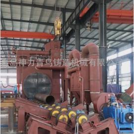 青岛铸造机械钢管除锈钢管除锈抛丸机