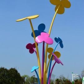 东莞原著不锈钢雕塑厂家供应不锈钢花儿雕塑 广场花型工艺品摆件