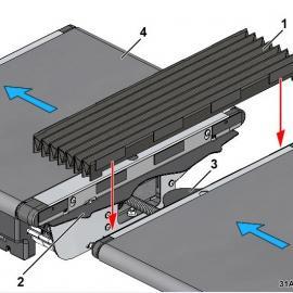 物流分拣机伸缩防护罩
