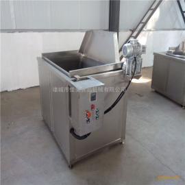 供应半自动出料燃气油炸单机,炸薯片油炸锅,佳美机械