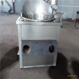 供应 半自动出料燃气油炸单机 燃气油炸锅 炸薯片油炸锅 佳美机械