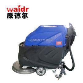工厂水泥地面擦洗用威德尔电动洗地机 手推式洗地机