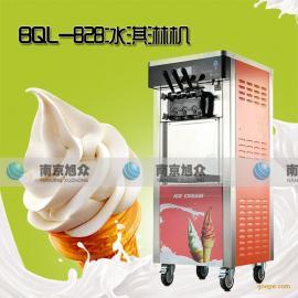 三色软冰淇淋机送配方,冰淇淋机报价