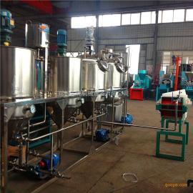 核桃加工机械 核桃榨油精炼设备 核桃油脱胶脱酸精炼生产线