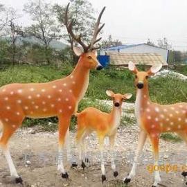 广东玻璃钢雕塑厂家供应玻璃钢仿真动物雕塑 玻璃钢小鹿雕塑批发