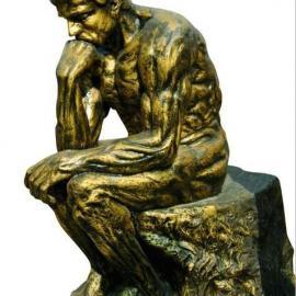 广东原著雕塑厂家供应罗丹思想者雕塑 铸铜人物雕塑价格