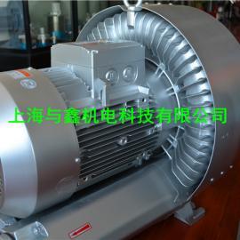 双叶轮旋涡气泵厂家@吸料旋涡气泵¥上料机专用高压气泵