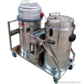 大量粉尘用工业吸尘器工地用强力吸尘器打磨车间用双桶吸尘器
