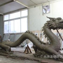 广东原著雕塑厂家促销玻璃钢龙雕塑 公园雕塑批发