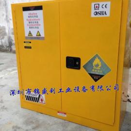 30加仑蓝色防爆柜,带PP托盘化学品整理柜,化学品储存柜