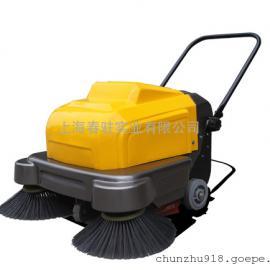 明诺双边刷手推式扫地车大型仓库用灰尘清扫车厂家直销