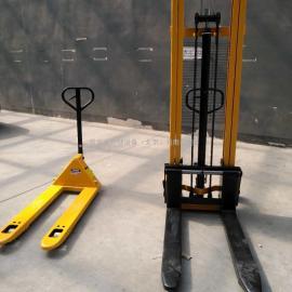 手动堆高车 液压升高车 地牛托盘升降车搬运装卸车叉1吨2吨